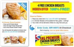4 free chicken breasts