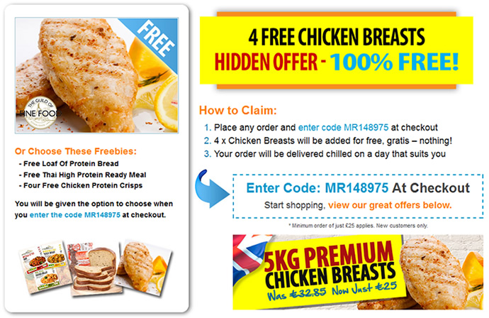 4 free chicken breasts