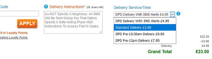 cheaper delivery